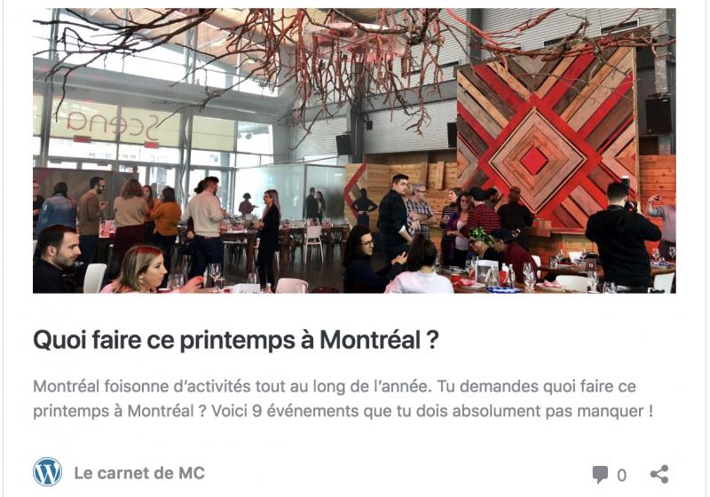 Montréal en mode séduction !